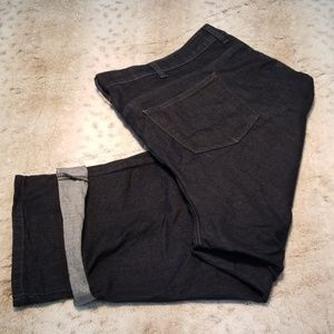Lee Classic Fit Dark Jean Capris Cuffed or Not